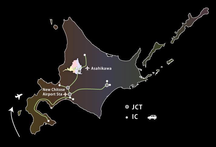 北海道地図主なルート